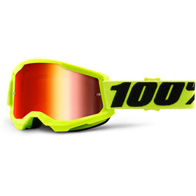 100% Strata Anti-Fog Goggles Gen2 fluo yellow/mirror